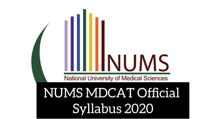 NUMS-MDCAT-Official-Syllabus-2020-View-And-Download