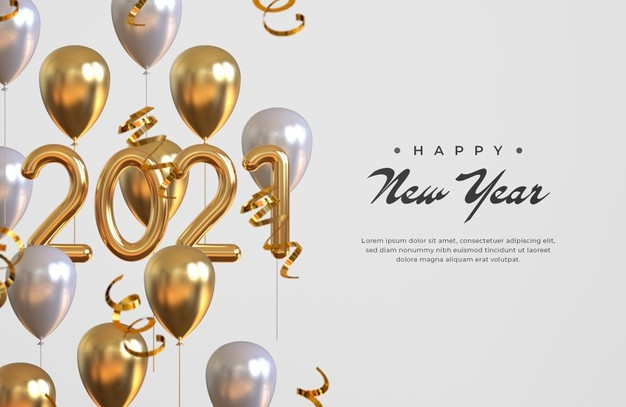 Wallpaper of new year 2021