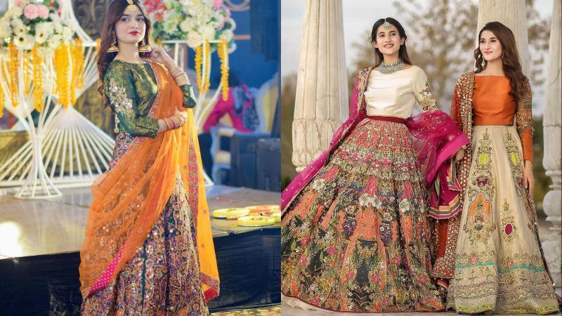 Mehndi-Lehengas-dress-for-bride