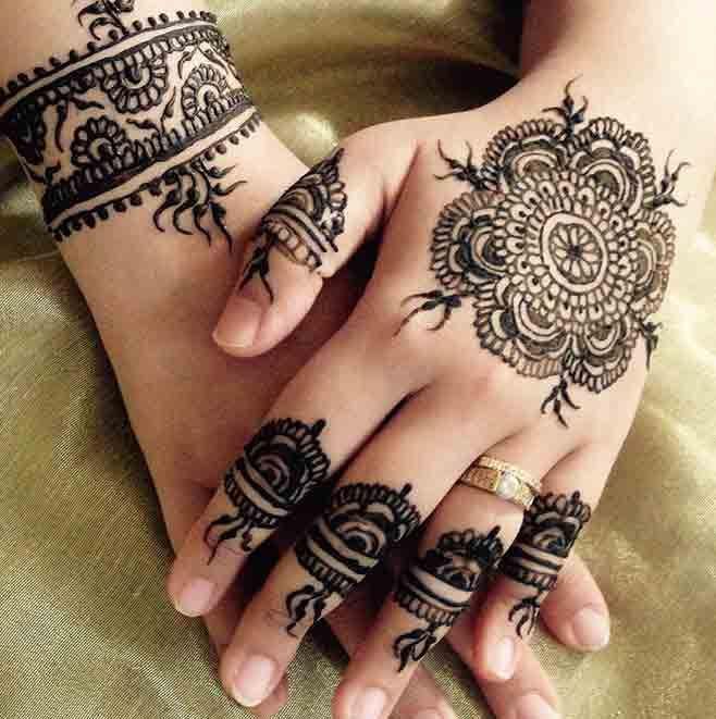 Tikki Mehndi Designs For Back Hand