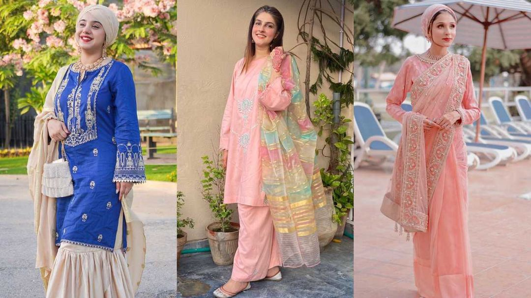 Pakistani Party Wear Embroidered Dresses